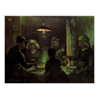 Van Gogh; The Potato Eaters, Vintage Impressionism Posters