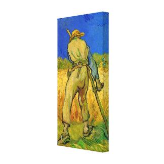 Van Gogh; The Reaper, Vintage Impressionism Farmer Canvas Print