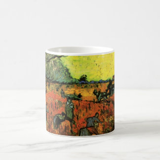 Van Gogh, The Red Vineyard, Vintage Impressionism Coffee Mug
