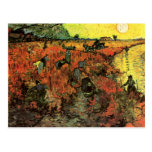 Van Gogh, The Red Vineyard, Vintage Impressionism Postcards