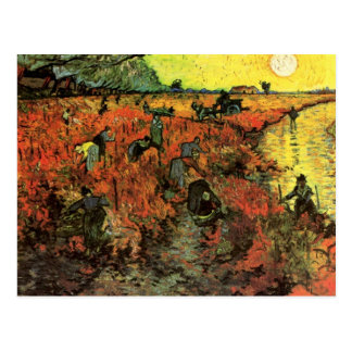 Van Gogh, The Red Vineyard, Vintage Impressionism Postcard