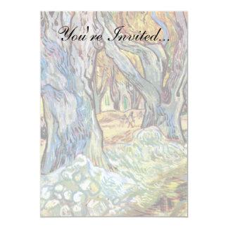 "Van Gogh - The Road Menders 5"" X 7"" Invitation Card"