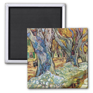 Van Gogh - The Road Menders Refrigerator Magnets