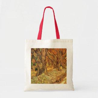 Van Gogh The Road Menders, Vintage Fine Art Canvas Bag