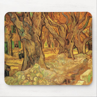 Van Gogh The Road Menders, Vintage Fine Art Mouse Pad
