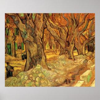 Van Gogh The Road Menders, Vintage Fine Art Posters