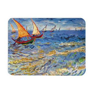 Van Gogh - The Sea At Saintes Maries Rectangular Photo Magnet