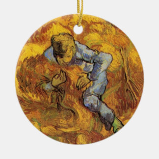 Van Gogh, The Sheaf Binder, Vintage Impressionism Ornaments