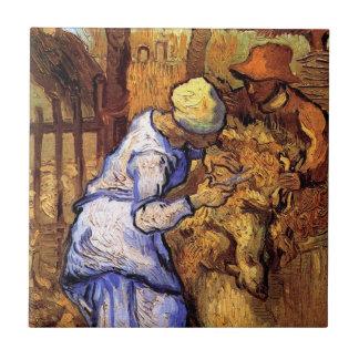 Van Gogh - The Sheep Shearers Small Square Tile