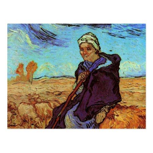 Van Gogh The Shepherdess Vintage Impressionism Postcard