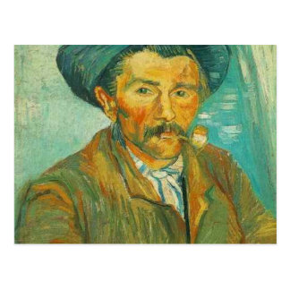 van gogh the smoker postcard