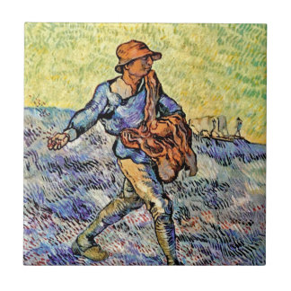 Van Gogh - The Sower (After Millet) Tile