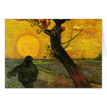Van Gogh The Sower (F450) Fine Art Stationery Note Card