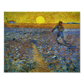Van Gogh - The Sower (Sower with Setting Sun) Poster