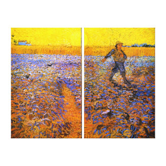 Van Gogh: The Sower Stretched Canvas Print