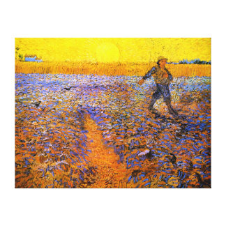 Van Gogh: The Sower Stretched Canvas Prints