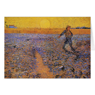 Van Gogh, The Sower, Vintage Impressionism Art Card
