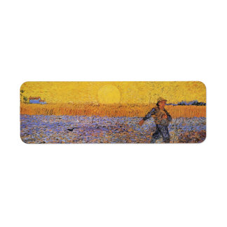Van Gogh, The Sower, Vintage Impressionism Art Label