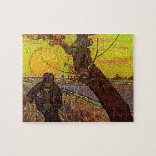 Van Gogh The Sower Vintage Impressionism Farm Jigsaw Puzzle