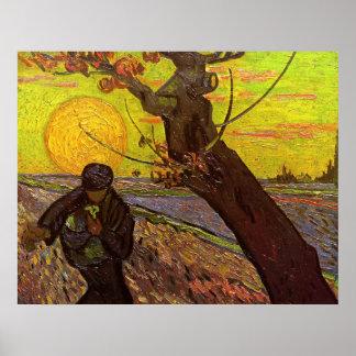 Van Gogh; The Sower, Vintage Impressionism Farm Poster