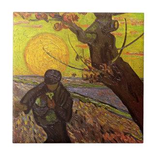 Van Gogh; The Sower, Vintage Impressionism Farm Tile