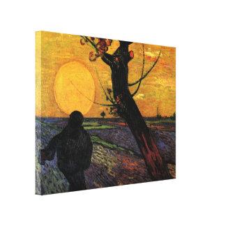 Van Gogh; The Sower, Vintage Peasant Farmer Canvas Print