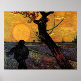 Van Gogh; The Sower, Vintage Peasant Farmer Poster