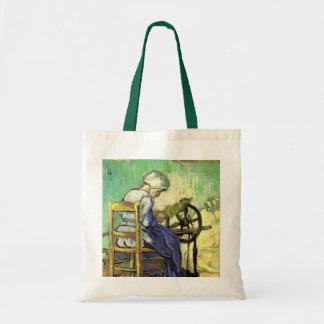 Van Gogh, The Spinner, Vintage Impressionism Art Budget Tote Bag