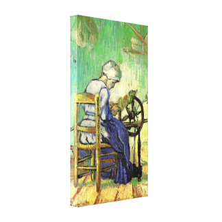 Van Gogh, The Spinner, Vintage Impressionism Art Canvas Print