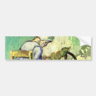 Van Gogh, The Spinner, Vintage Impressionism Art Car Bumper Sticker