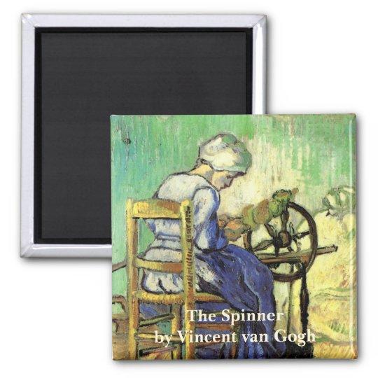 Van Gogh, The Spinner, Vintage Impressionism Art Magnet
