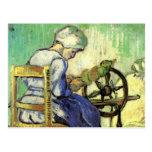 Van Gogh, The Spinner, Vintage Impressionism Art Post Card
