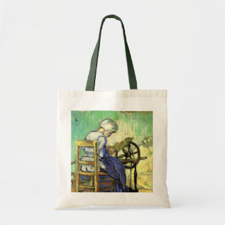 Van Gogh, The Spinner, Vintage Impressionism Art Tote Bag