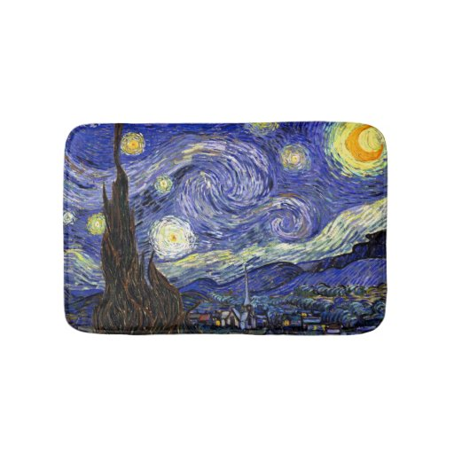 Van Gogh The Starry Night Bathroom Mat Zazzle