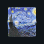"""Van Gogh-The Starry Night Checkbook Cover<br><div class=""""desc"""">Oil painting by the Dutch master Vincent Van Gogh(1853-1890) Probably his most famous painting, Van Gogh painted &#39;The Starry Night&#39; in 1889 from memory while in an asylum in France where he checked himself in for depression.The scene depicts the view from his bedroom window. In the painting there is the...</div>"""