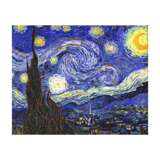 Van Gogh The Starry Night Stretched Canvas Prints