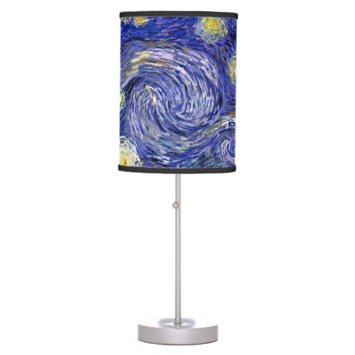 Van Gogh - The Starry Night Table Lamps  Zazzle
