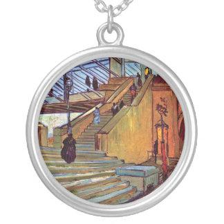 Van Gogh - The Trinquetaille Bridge Round Pendant Necklace