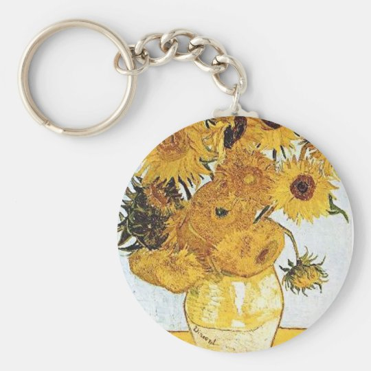 Van Gogh The Vase with 12 Sunflowers Keychain