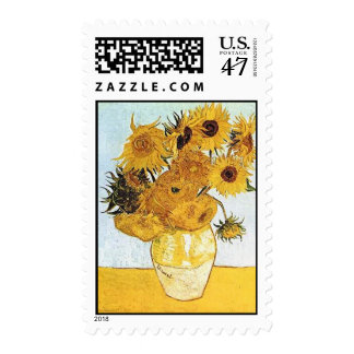 Van Gogh The Vase with 12 Sunflowers Postage Stamp