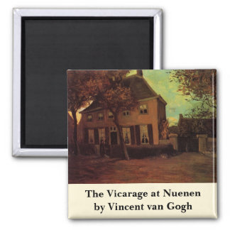 Van Gogh The Vicarage at Nuenen, Vintage Fine Art 2 Inch Square Magnet