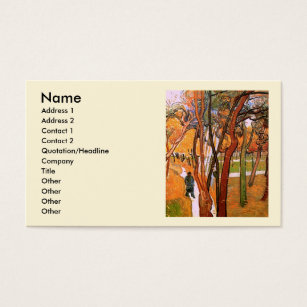 Man and van business cards templates zazzle van gogh the walk falling leaves vintage art business card reheart Gallery