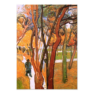 Van Gogh The Walk: Falling Leaves, Vintage Art 5x7 Paper Invitation Card