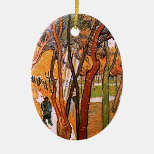 Van Gogh The Walk: Falling Leaves, Vintage Art Christmas Tree Ornament