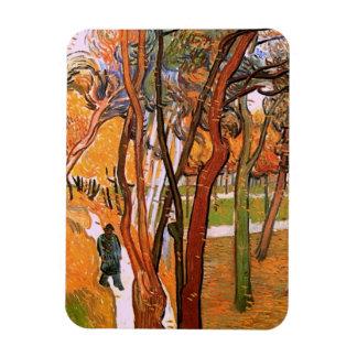Van Gogh The Walk: Falling Leaves, Vintage Art Rectangle Magnet