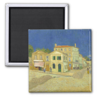 Van Gogh | The Yellow House | 1888 2 Inch Square Magnet