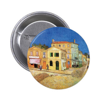 Van Gogh - The Yellow House Button