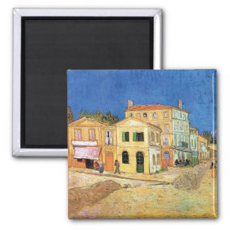 Van Gogh - The Yellow House 2 Inch Square Magnet