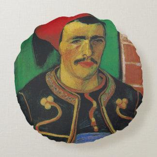 Van Gogh |The Zouave| 1888 Round Pillow