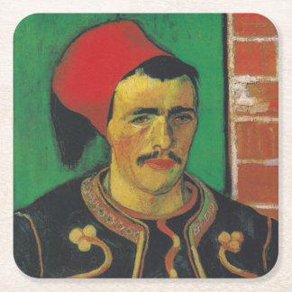 Van Gogh | The Zouave | 1888 Square Paper Coaster